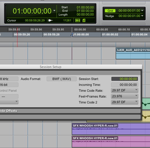 how to change video frame rate in pro tools