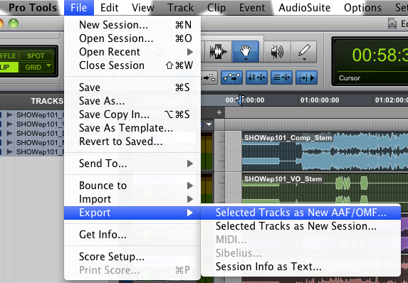 Export mix stems to an AAF for Avid importing – Pro Tools is Awesome!
