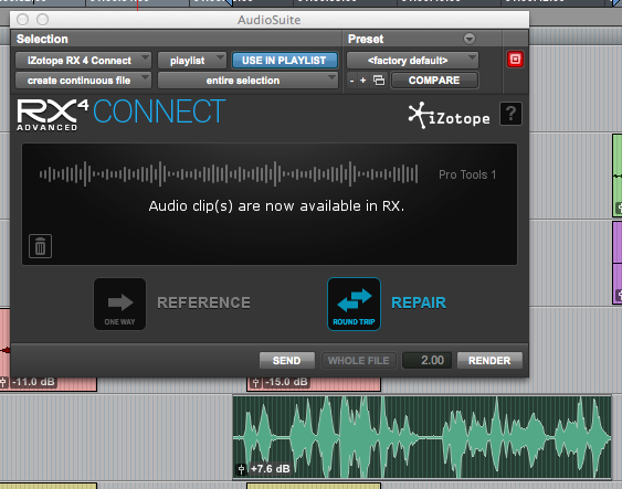 iZotope RX 4 Advanced: tying stand-alone app into Pro Tools – Pro
